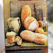 """Для дома и интерьера ручной работы. Ярмарка Мастеров - ручная работа Хлебная доска """"Уютно и тепло"""". Handmade."""