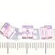Для украшений ручной работы. Кубики из стекла, цвет розовый, размер 8х8мм. Созвездие бусин (sozvezdiebusin). Интернет-магазин Ярмарка Мастеров.