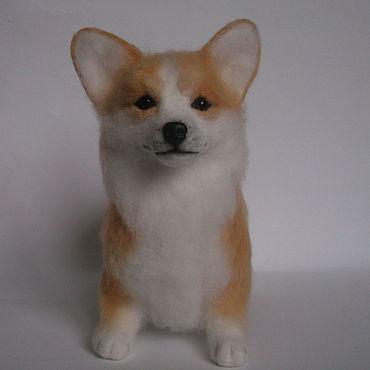 Куклы и игрушки ручной работы. Ярмарка Мастеров - ручная работа Войлочная игрушка: Собака вельш корги пемброк. Handmade.