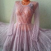 Одежда handmade. Livemaster - original item Openwork mohair dress