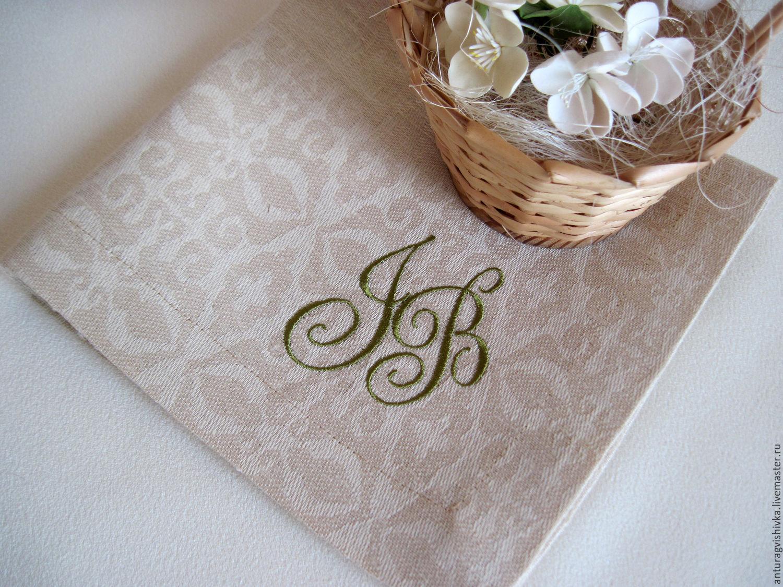 Салфетки на свадьбу вышивка