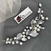 Свадебный салон handmade. Livemaster - original item Wedding decoration for hair .