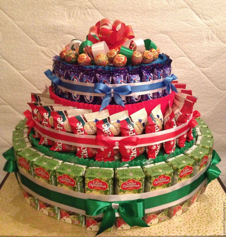 Торт из конфет своими руками: мастер-класс с пошаговым 88