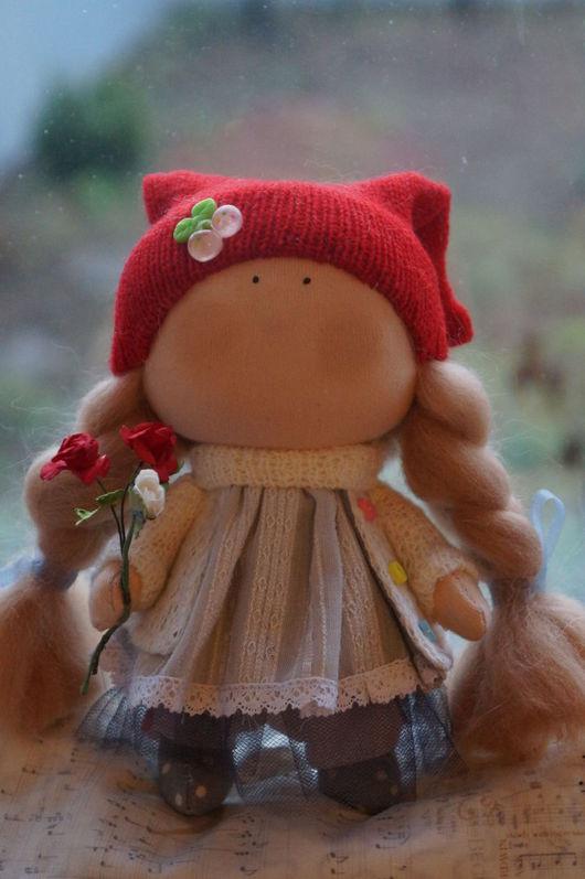 Коллекционные куклы ручной работы. Ярмарка Мастеров - ручная работа. Купить Красная шапочка, кукла-малышка. Handmade. интерьерное украшение