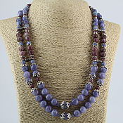 Украшения handmade. Livemaster - original item Necklace made of natural stones (angelite,lepidolite)