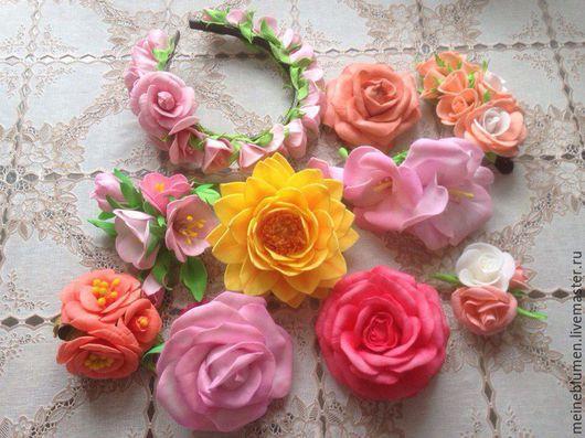 Заколки ручной работы. Ярмарка Мастеров - ручная работа. Купить цветы и украшения из фоамирана,заколки. Handmade. Нежно-розовая магнолия