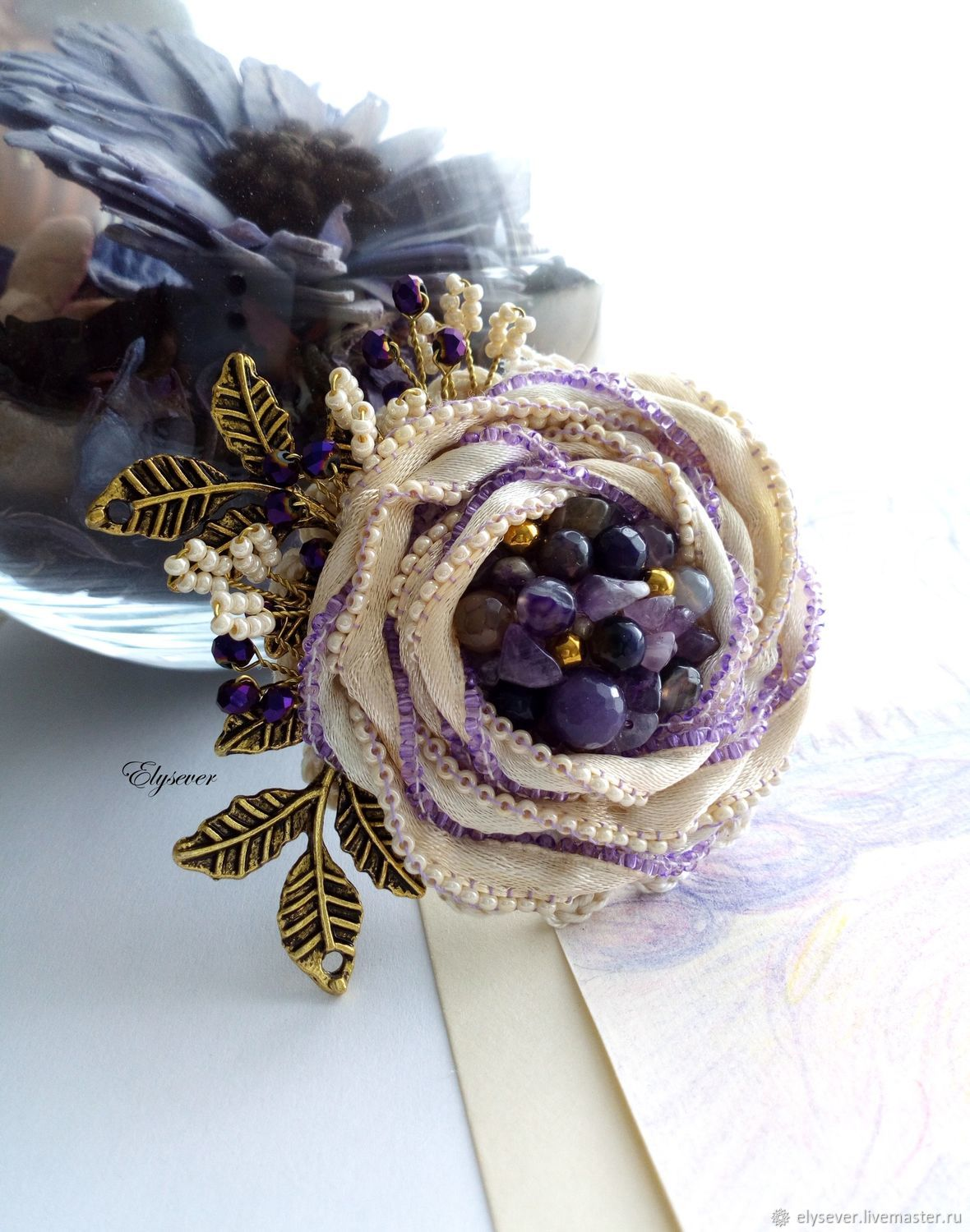 how to make a ribbon rosette brooch