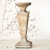 Для дома и интерьера handmade. Livemaster - original item Candle holder stand with straight faces of concrete Loft Industrial. Handmade.