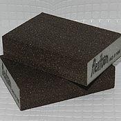 Материалы для творчества handmade. Livemaster - original item Sponge sanding double sided RIGID, abrasive 100; 120; 220. Handmade.
