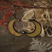 Украшения handmade. Livemaster - original item Moon Yellow Earrings (e-003-08). Handmade.