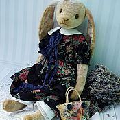 Куклы и игрушки ручной работы. Ярмарка Мастеров - ручная работа Зайка в синем. Handmade.