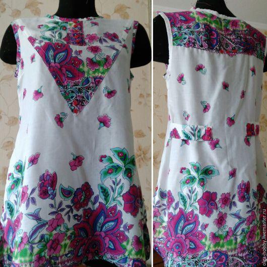 Блузки ручной работы. Ярмарка Мастеров - ручная работа. Купить Блуза из штапеля. Handmade. Комбинированный, цветочный принт, блуза из штапеля