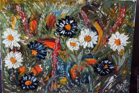 Картины цветов ручной работы. Ярмарка Мастеров - ручная работа. Купить Мгновения лета.Приятные эмоции.. Handmade. Оливковый