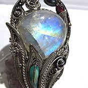 """Кольца ручной работы. Ярмарка Мастеров - ручная работа Кольцо""""Лунный цветок"""" лунный камень,ювелирный сплав. Handmade."""