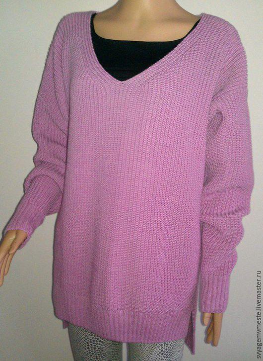 """Кофты и свитера ручной работы. Ярмарка Мастеров - ручная работа. Купить Свитер """" Oversize 1"""". Handmade. Розовый, стиль"""
