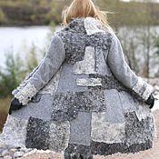"""Одежда ручной работы. Ярмарка Мастеров - ручная работа Пальто теплое и уютное """"Город, дождь и я """". Handmade."""