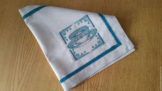 Текстиль, ковры ручной работы. Ярмарка Мастеров - ручная работа. Купить Салфетка с вышивкой. Handmade. Льняная салфетка, лён