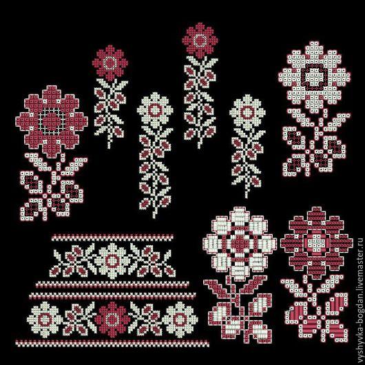 Комплект дизайнов машинной вышивки в народно-этническом стиле.  Дизайн для машинной вышивки разные форматы  pes, hus, jef, dst, exp, vp3, vip, xxx