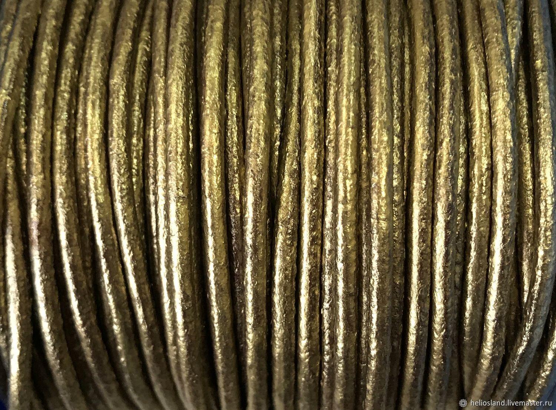 Для украшений ручной работы. Ярмарка Мастеров - ручная работа. Купить Шнур кожаный премиум 2 мм, ПРЕМИУМ. Handmade.