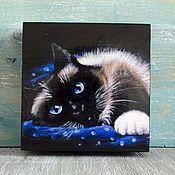 Для дома и интерьера ручной работы. Ярмарка Мастеров - ручная работа Шкатулка черная кошка. Handmade.