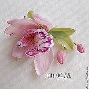 Украшения handmade. Livemaster - original item Brooch-Barrette Orchid. Handmade.