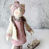 """Куклы и игрушки ручной работы. Ярмарка Мастеров - ручная работа Кошка """"Я хочу запомнить, как падает снег"""". Handmade."""