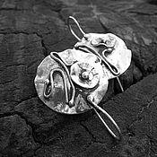 Украшения ручной работы. Ярмарка Мастеров - ручная работа Серьги Маки. Серебро 925 пробы. Handmade.