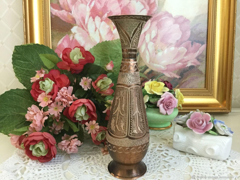 Винтаж: Медная вазочка. Индия, Винтажные предметы интерьера, Киев, Фото №1