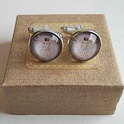 Украшения handmade. Livemaster - original item silver plated cufflinks vitruvian man. Handmade.