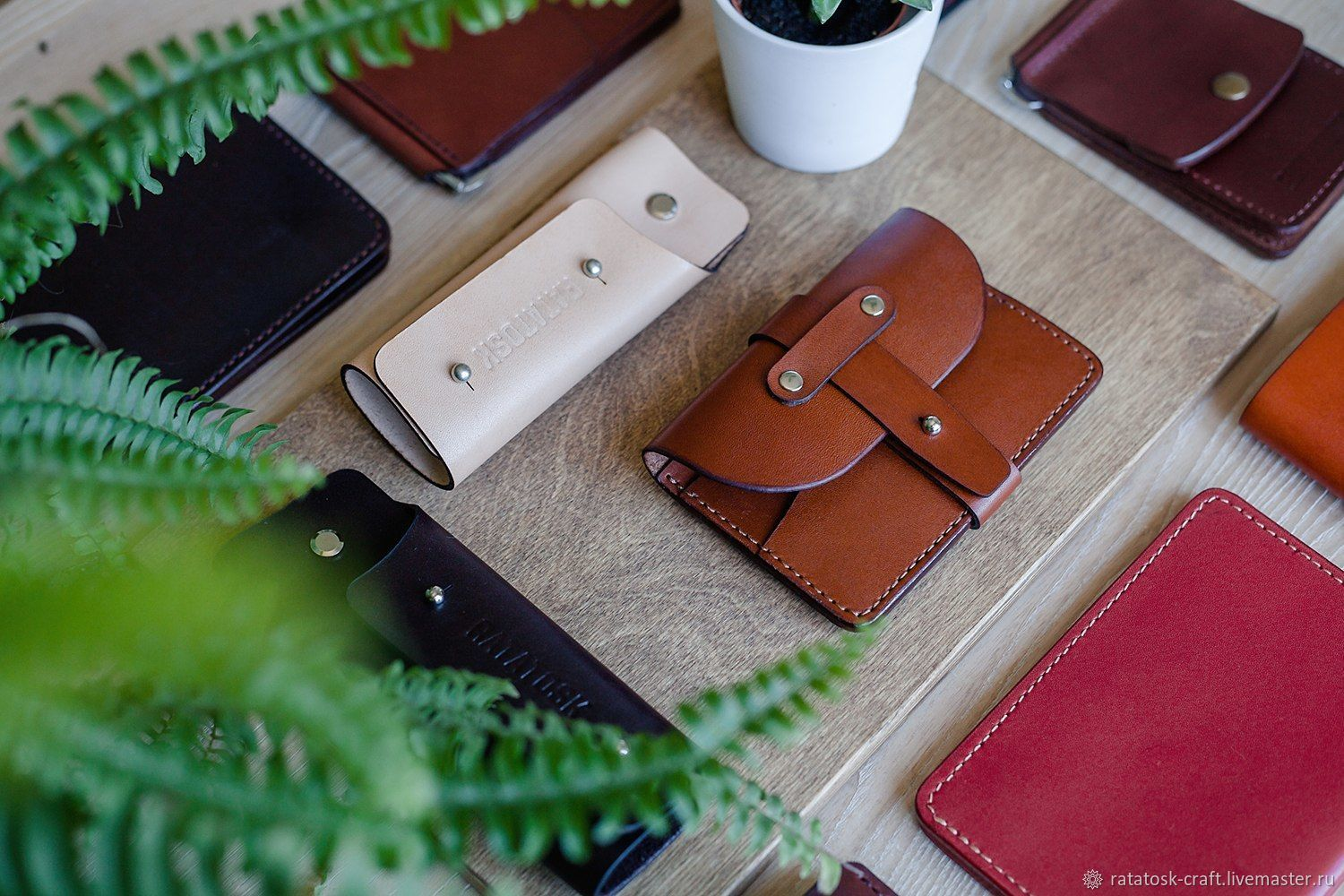 Leather wallet - business card holder IOWA, Business card holders, Volgograd,  Фото №1