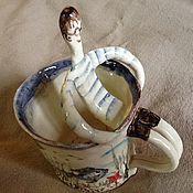 """Посуда ручной работы. Ярмарка Мастеров - ручная работа чашечка """"Пловец"""". Handmade."""