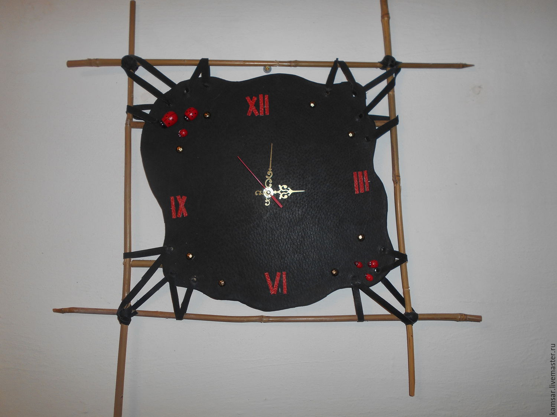часы настенные кожанные, Часы, Волгоград, Фото №1