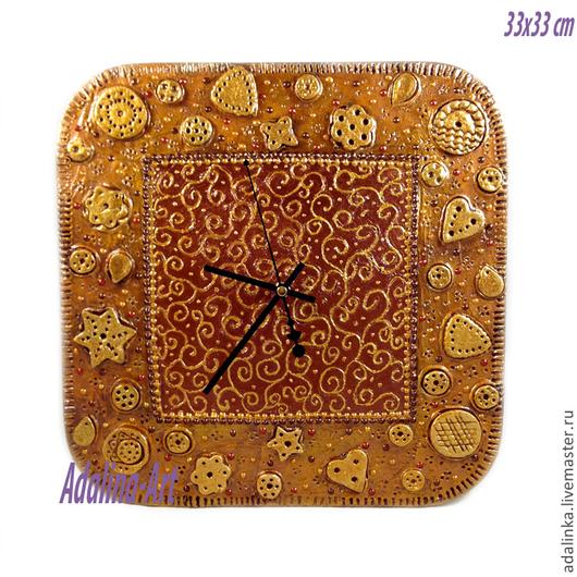 Часы для дома ручной работы. Ярмарка Мастеров - ручная работа. Купить ПЕСЧАНЫЙ БЕРЕГ часы интерьерные. Handmade. Адалина-арт