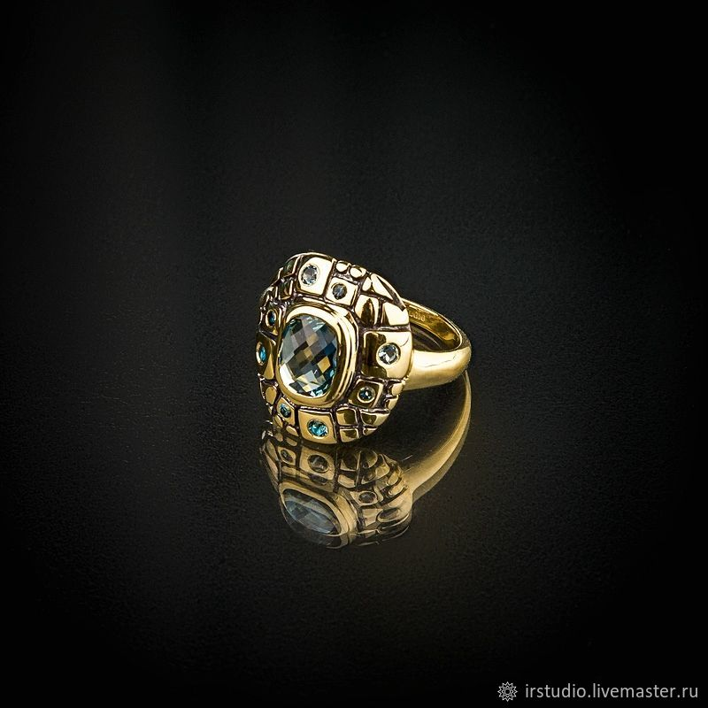 Reflexions - London topaz silver ring (RMCUS6x8), Rings, Moscow,  Фото №1