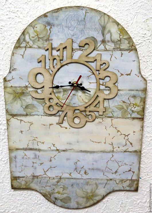"""Часы для дома ручной работы. Ярмарка Мастеров - ручная работа. Купить """"Следы времени"""" большие часы. Handmade. Часы"""