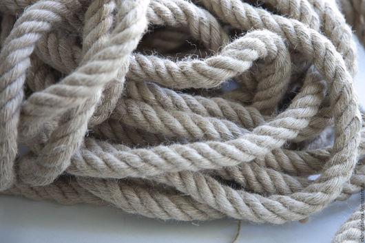 Шитье ручной работы. Ярмарка Мастеров - ручная работа. Купить Джутовый шнур, плетеный, 18 мм. Handmade. Бежевый