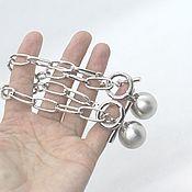 Цепочки ручной работы. Ярмарка Мастеров - ручная работа Основа для колье цепочка металл под серебро. Handmade.