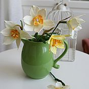Цветы и флористика ручной работы. Ярмарка Мастеров - ручная работа Букет нарциссов. Handmade.