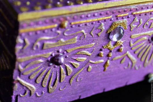 """Шкатулки ручной работы. Ярмарка Мастеров - ручная работа. Купить """"Фиолетовый соблазн"""" шкатулка в восточном стиле. Handmade. Тёмно-фиолетовый"""