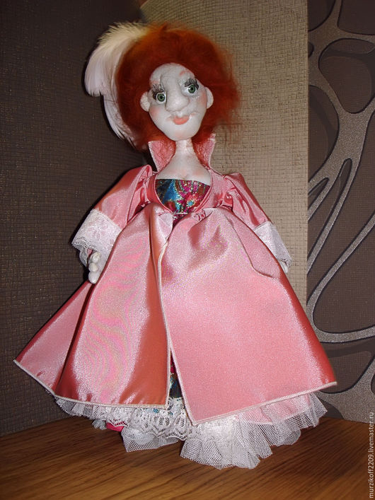 Коллекционные куклы ручной работы. Ярмарка Мастеров - ручная работа. Купить Мадам Рококо . Текстильная кукла.. Handmade. Бледно-розовый