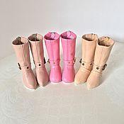 Одежда для кукол ручной работы. Ярмарка Мастеров - ручная работа Обувь для Паола Рейна невысокие сапожки из натуральной кожи. Handmade.