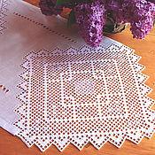 Для дома и интерьера ручной работы. Ярмарка Мастеров - ручная работа Дорожка, салфетка, вышивка, лен, мережка. Handmade.