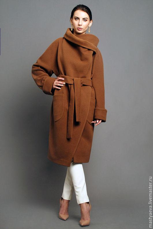 """Верхняя одежда ручной работы. Ярмарка Мастеров - ручная работа. Купить Пальто """"Карим"""". Handmade. Коричневый, пальто прямое"""