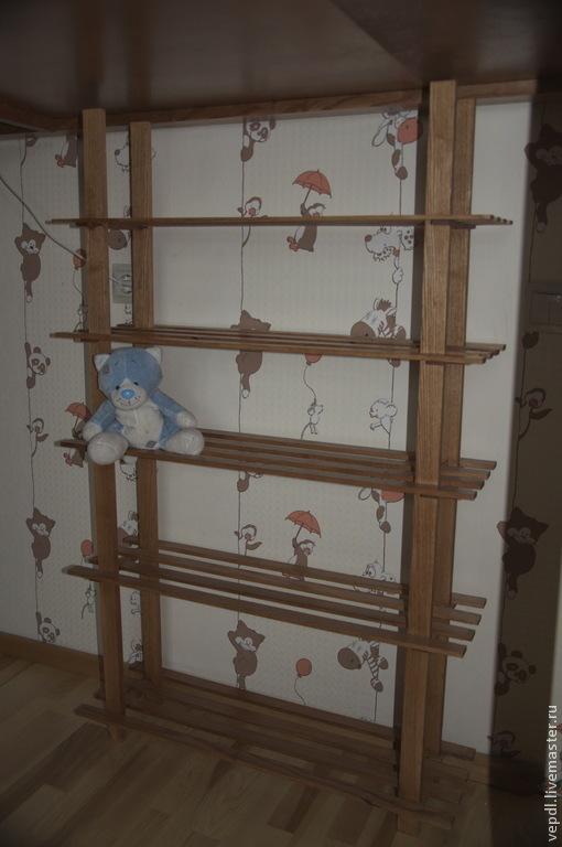 Мебель ручной работы. Ярмарка Мастеров - ручная работа. Купить Этажерка. Handmade. Коричневый, дерево, этажерка, ясень