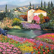 Картины и панно handmade. Livemaster - original item Oil painting Provence in the lilac haze of summer. Handmade.