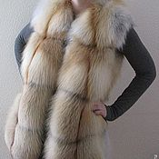 Vests handmade. Livemaster - original item Jacket with fur Siberian red Fox. Solid.. Handmade.