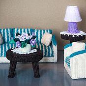 Куклы и игрушки ручной работы. Ярмарка Мастеров - ручная работа Вязаная гостиная для кукольного домика. Handmade.