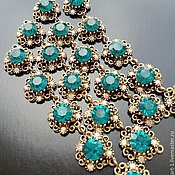 Материалы для творчества handmade. Livemaster - original item Universal connector art. 3-19A for jewelry, turquoise. Italy. Handmade.
