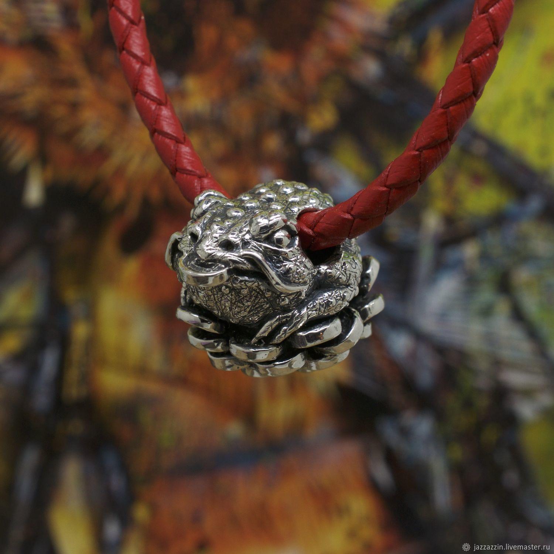 Pendants handmade. Livemaster - handmade. Buy Money frog bead.Japan, ying-yan