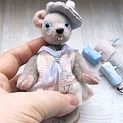 Куклы и игрушки ручной работы. Ярмарка Мастеров - ручная работа Мышка-морячка. Handmade.